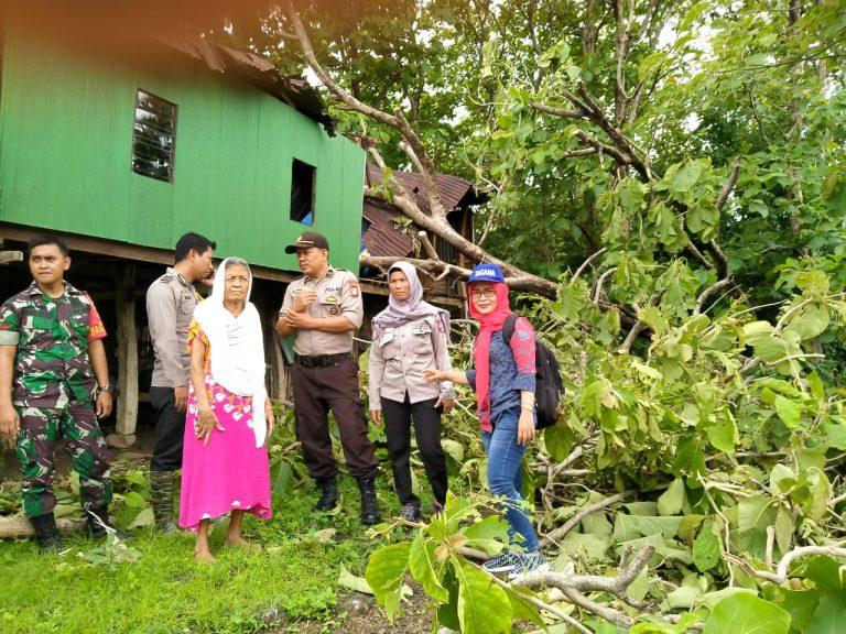 Rumah Lansia Disabilitas tertimpa pohon  di Jeneponto
